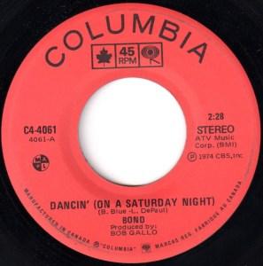 Dancin' On A Saturday Night by Bond