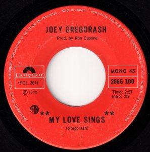 My Love Sings by Joey Gregorash