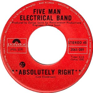 Absolutely Right by Five Man Electrical Band