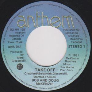 Take Off by Bob and Doug McKenzie