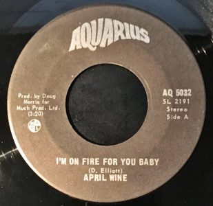 I'm On Fire For You Baby by April Wine