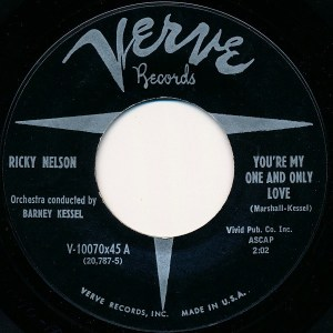 You're My One And Only Love by Ricky Nelson