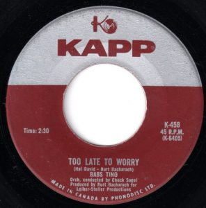 Too Late To Worry by Babs Tino