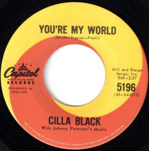 You're My World by Cilla Black