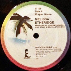 No Souvenirs by Melissa Etheridge