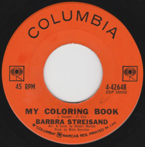 My Coloring Book by Barbra Streisand