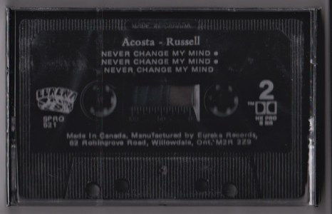 Never Change My Mind by John Acosta and James Russell