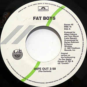 Wipeout by the Fat Boys and the Beach Boys