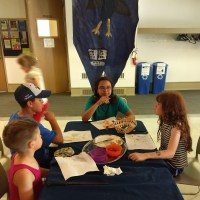 kids at Ravenclaw table in the Great Hall