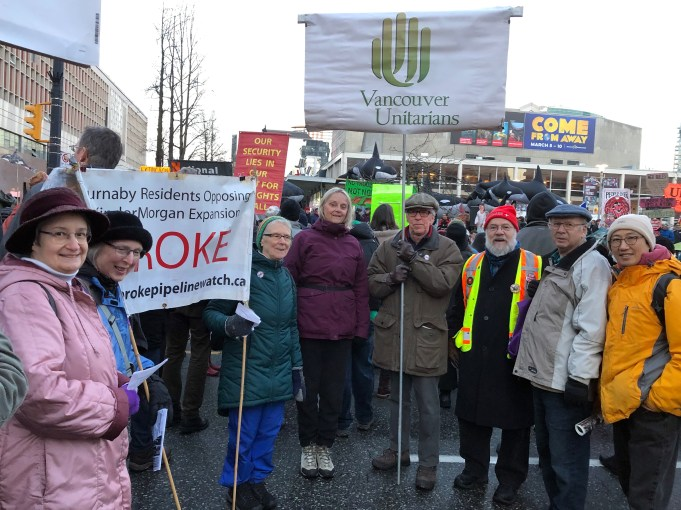 Vancouver Unitarians protest NEB approval of TMX - Feb 2019
