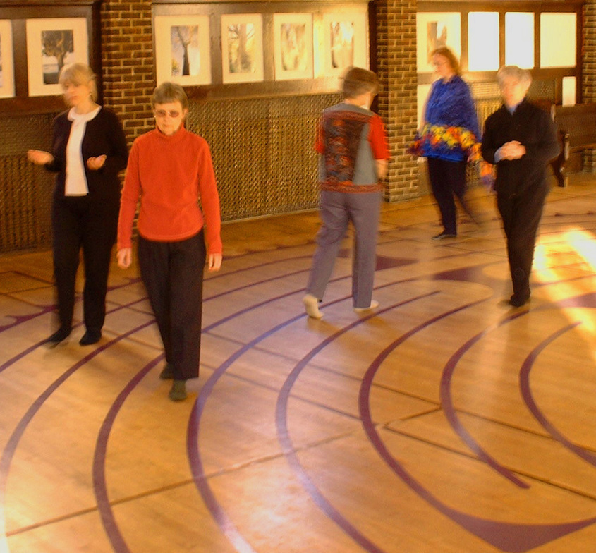 Join some Unitarians walking the labyrinth at St. Paul's Anglican