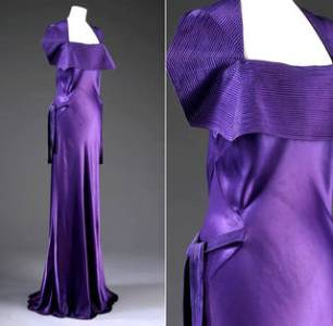 V A      Art Deco fashion Evening dress  Jeanne Lanvin  1935  France  Museum no  T 340 1965        Victoria and Albert Museum  London