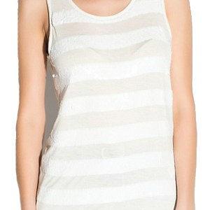 Broadway top pailletten off white