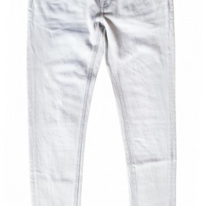 Cast Iron Riser SGB grey bleached slim fit jeans met destroyed plekken