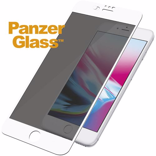 Panzerglass privacy screenprotector iPhone 7+/8+ Camslider (Wit)