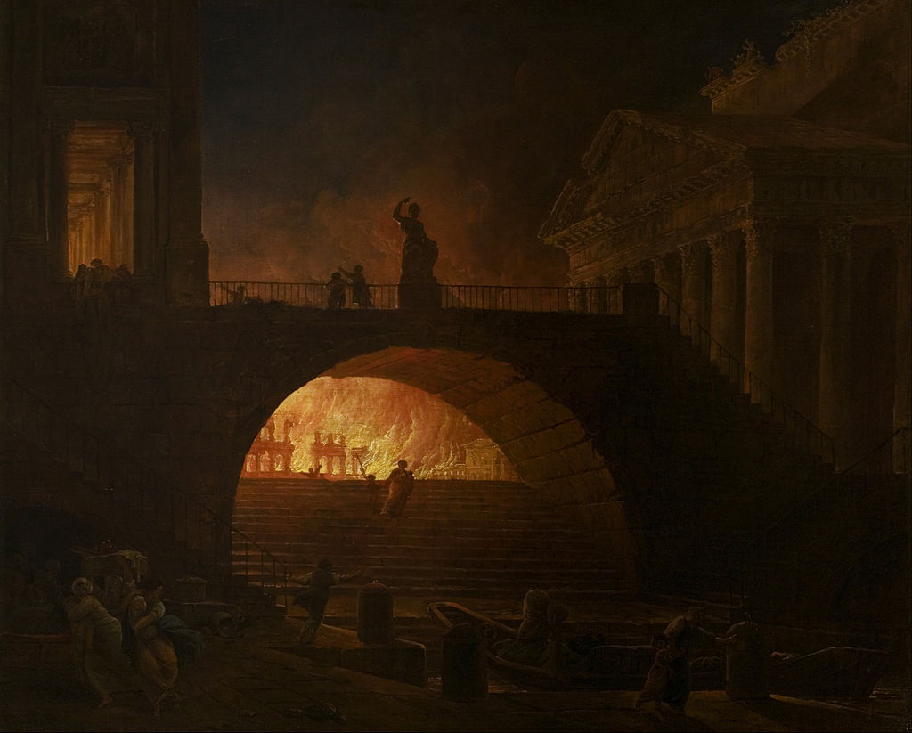 Grote brand van Rome - Hubert Robert