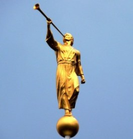 De engel Moroni - Standbeeld in Zwitserland