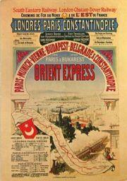 Oude reclameposter voor de Oriënt-Express