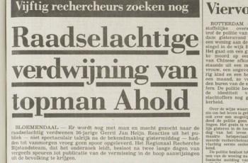 Gerrit Jan Heijn ontvoerd door Ferdi E.