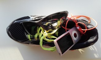 Shoe, sun glasses, iPod