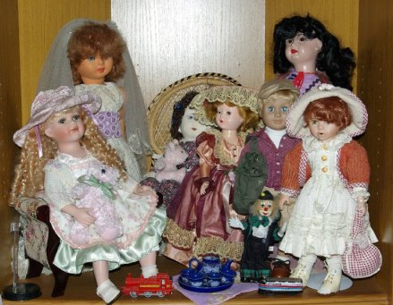 Well dressed dolls.