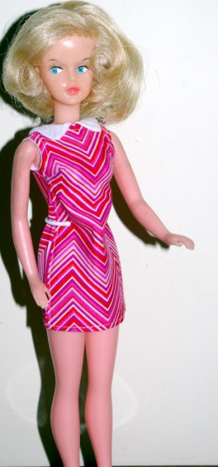 Tressy in the chevron dress.