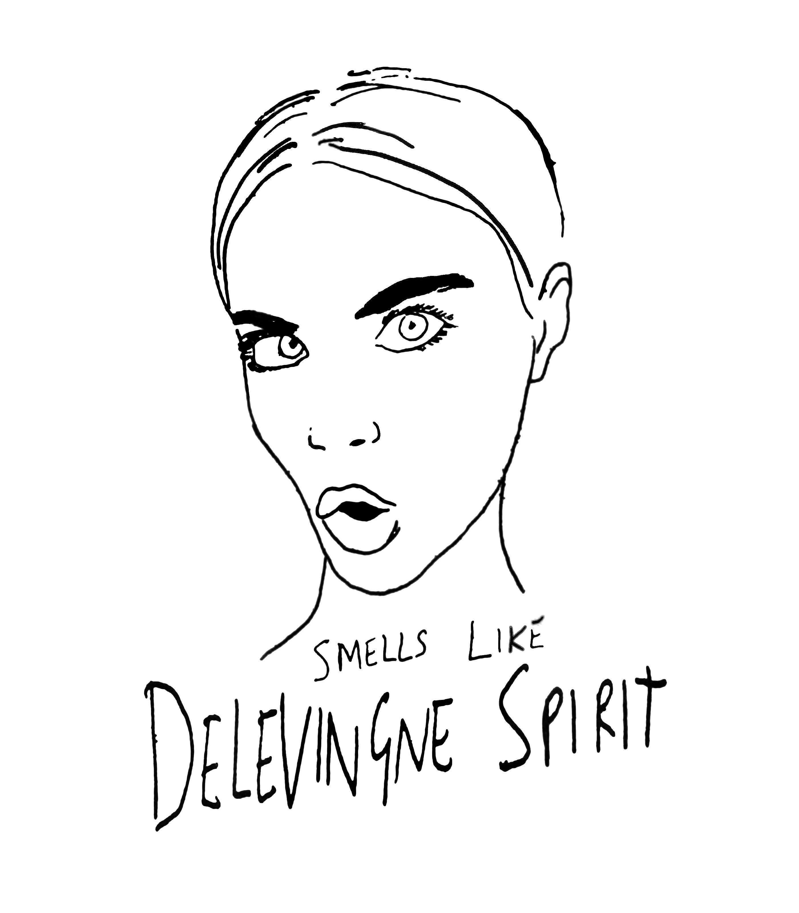 Camiseta Smells Like Delevingne Spirit