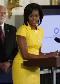 Michelle Obama in yellow suit at Awards