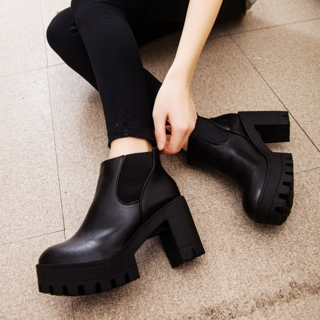 Winter-Women-Shoes-Platform-High-Heel-Chelsea-Boots-Casual-Ankle-Boots-High-Quality-Leather-Boot-Ladies