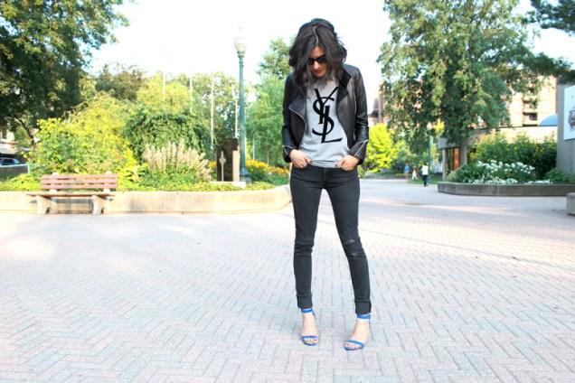 WoahStyle_com+-+YSL+tshirt,+Mackage+leather+jacket,+Distressed+Rag+&+Bone+jeans+and+Alexander+Wang+Antonia+sandals+in+Royal+street+style