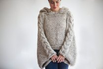 tweed-beige-angel-sweater-capalet-with-hoodie-over-size-plus-size-tweed-beige-cable-knit-by-afra