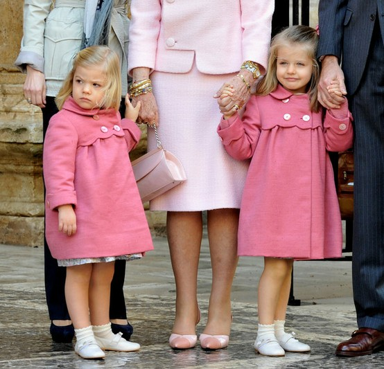 princess leonor and princess sofia of spain easter 2010