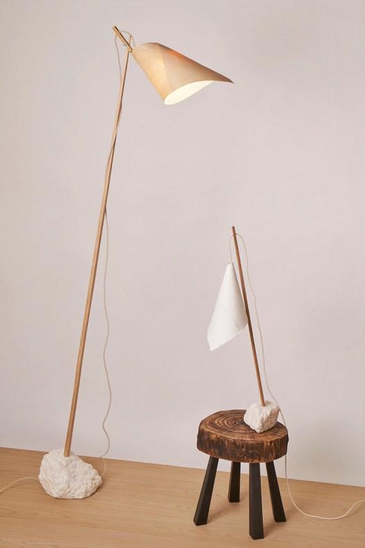 Lámparas de madera y papel