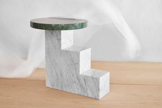 mesa auxiliar mármol