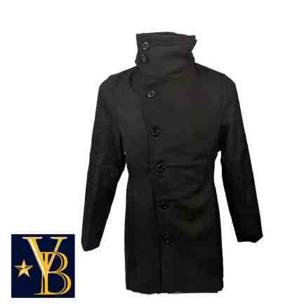 Long coat with high collar vb 2