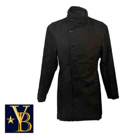 Long coat with high collar vb