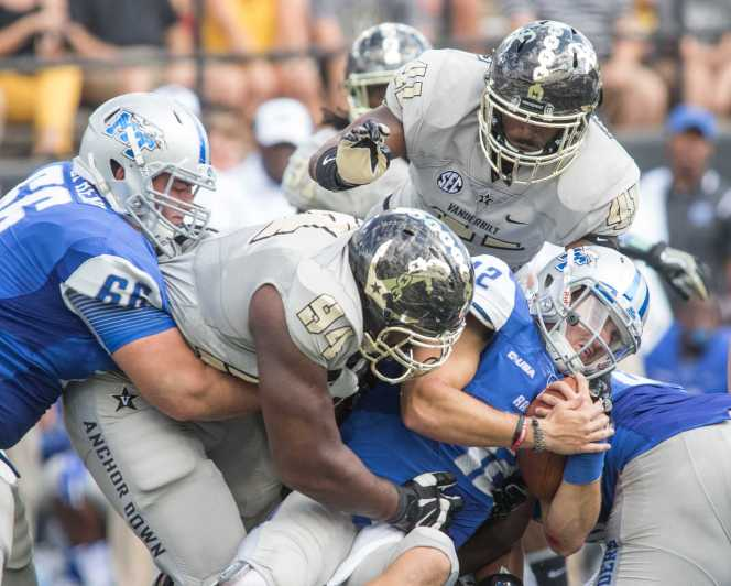 as Vanderbilt defeated the MTSU Blue Raiders 47-24 at Vanderbilt Stadium September 10, 2016.