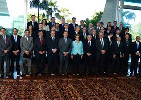 Dilma reunida com os governadores