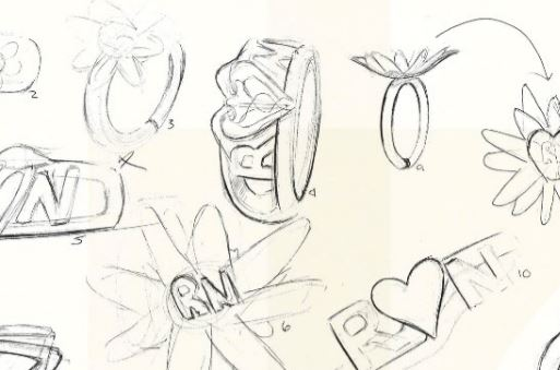 Snip of thumbnail sketches