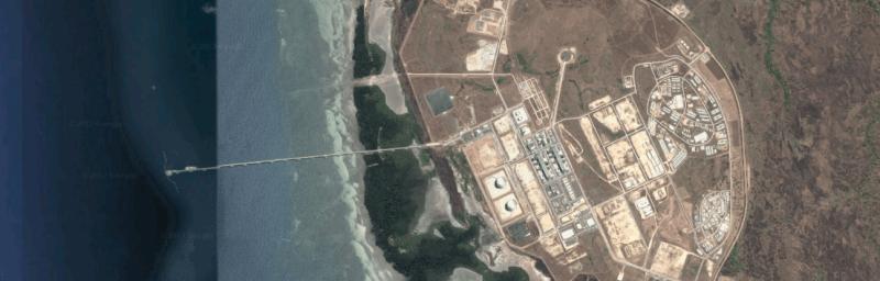 Door Vandervelde Protection kathodisch beschermde LNG Steiger Golf van Papoea