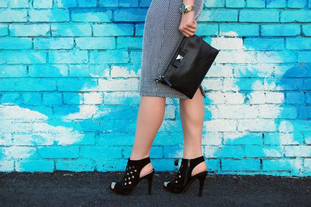 Kate Spade Clutch Black Heels