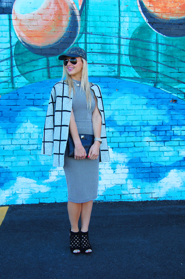 Checkered Coat & Two-Piece Outfit