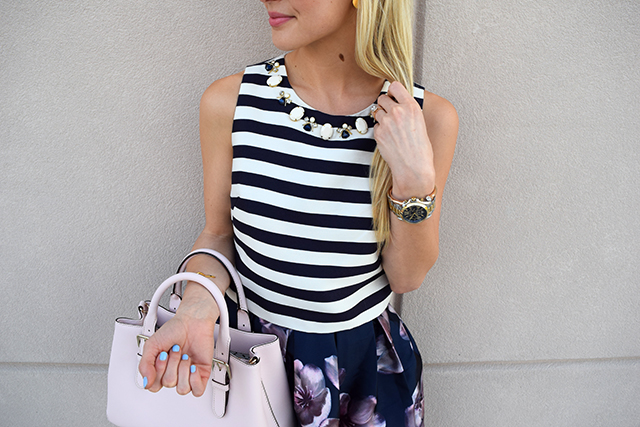 navy-striped-crop-top