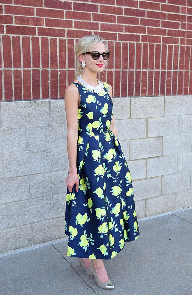retro lemon dress