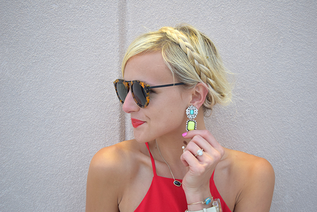 teal house collection earrings