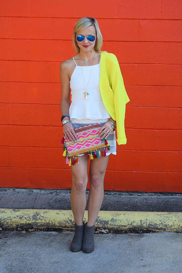 neon yellow blazer