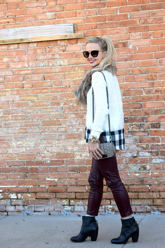 madewell layered sweater