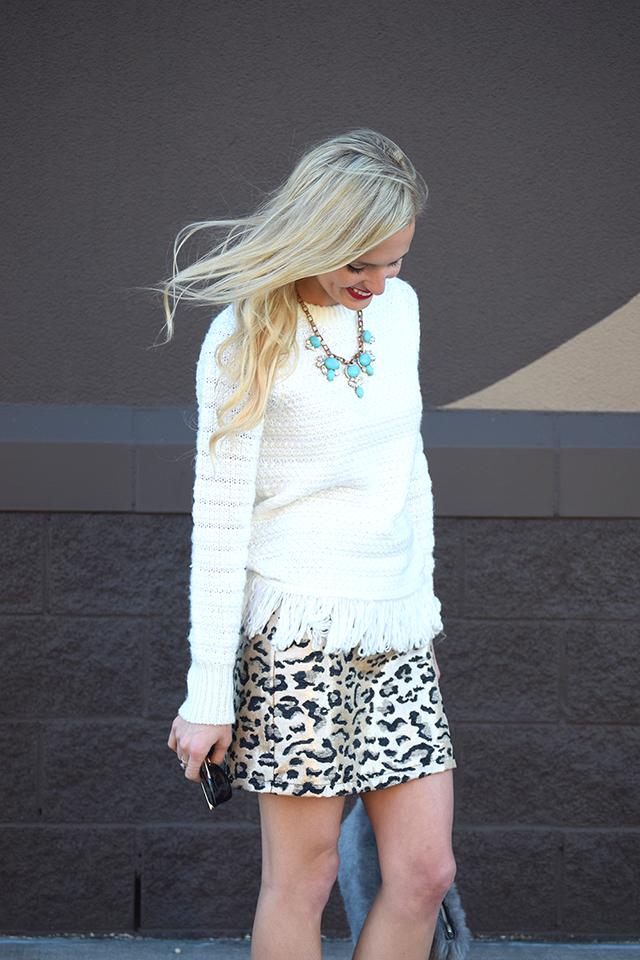 animal print mini skirt