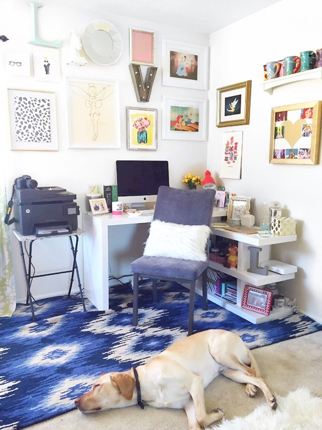 colorful home decor office