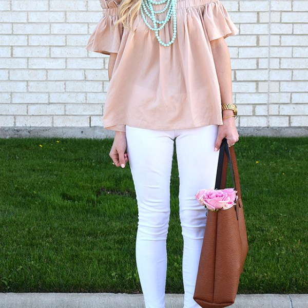spring off shoulder trend